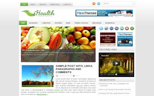Free Chrome Health Blog Jquery Wordpress Theme