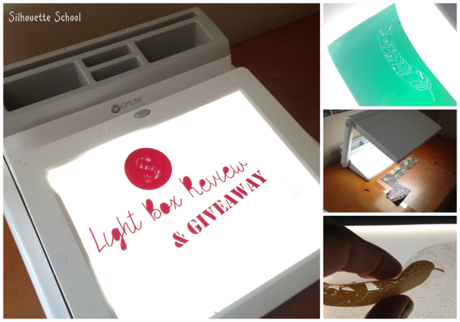 Using An Ottlite Light Box For Weeding Vinyl Silhouette