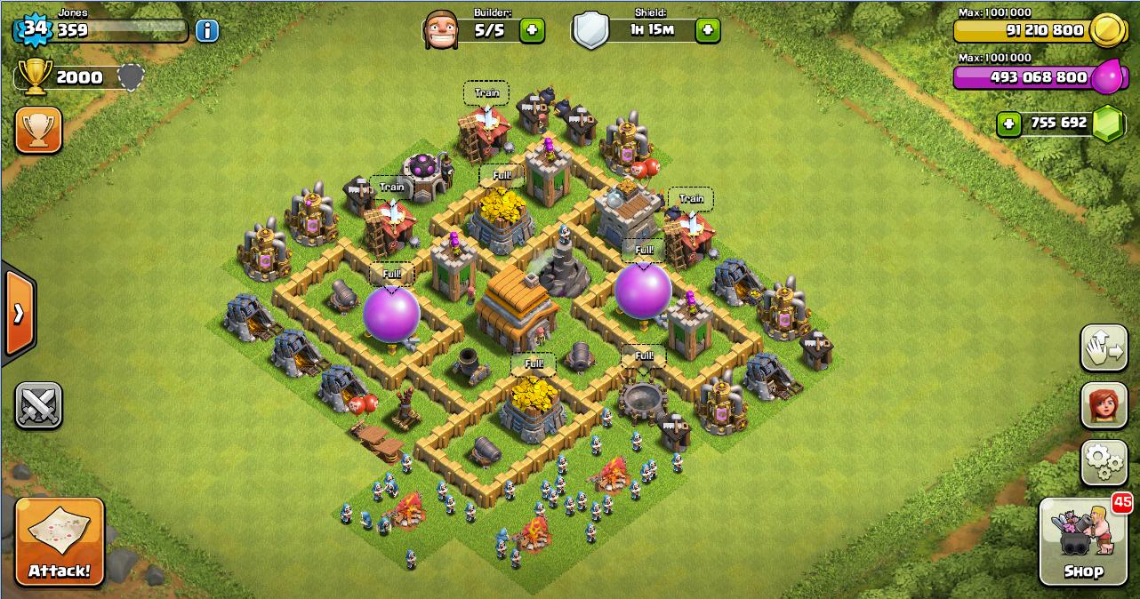 Strategi Pertahanan Terbaik Town Hall 5 Clash of Clans