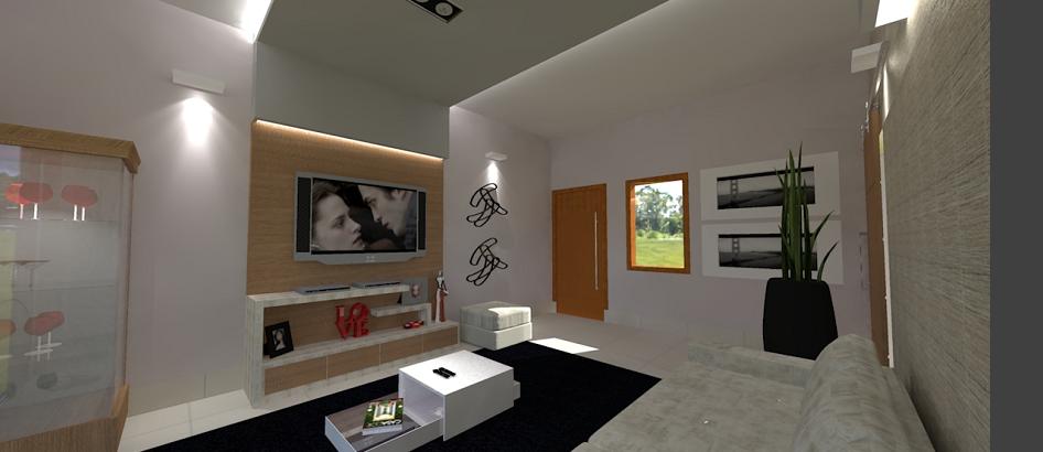 Ideias Decoracao Sala De Tv ~ Idéias de Decoração para Sala de TV  X  Aprender Decorar Minha