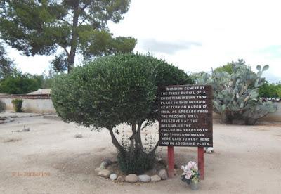 Cemetery Sign at Mission San Miguel, © B. Radisavljevic