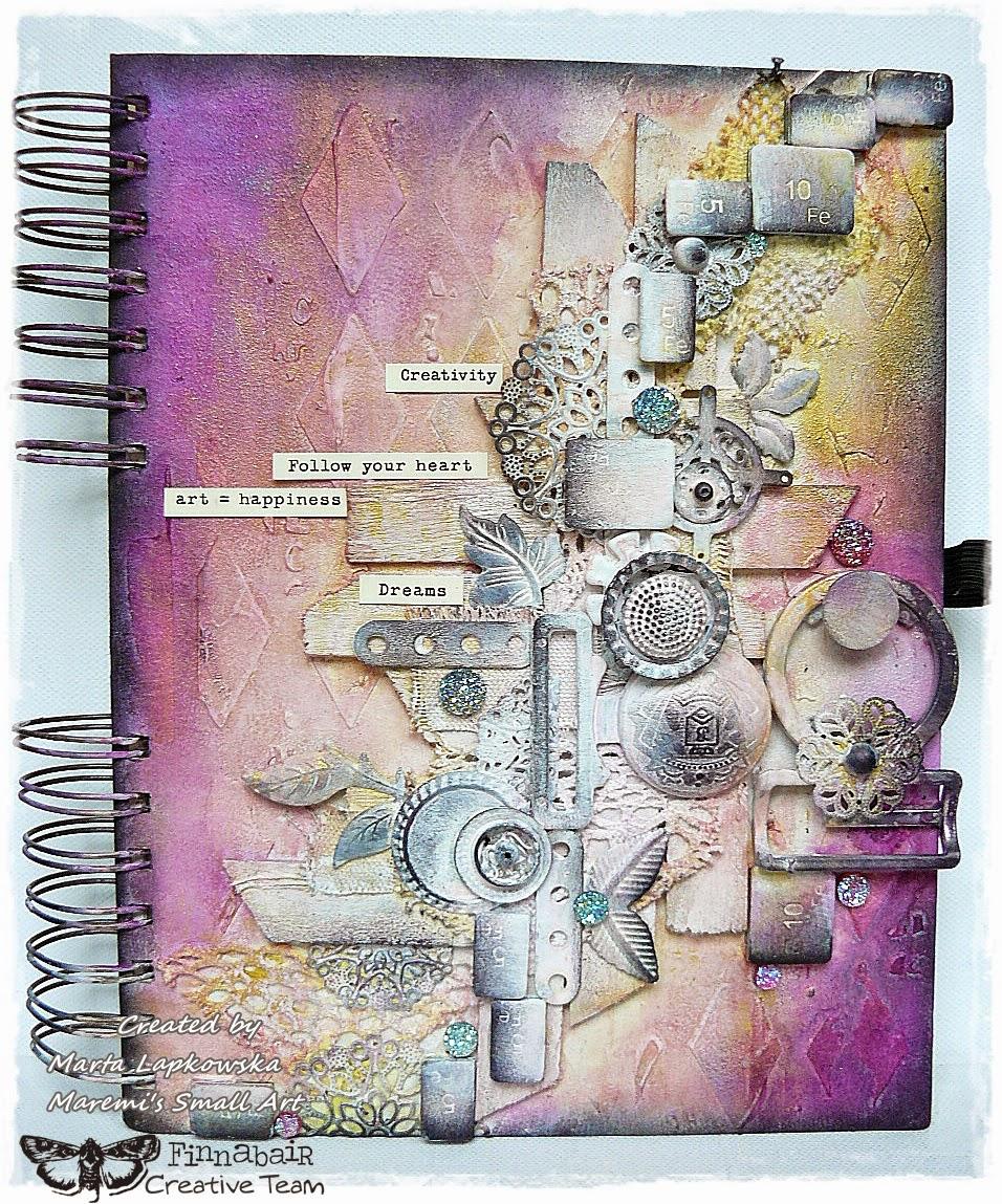Art Journal Calendar Tutorial : Marta lapkowska finnabair creative team mixed media