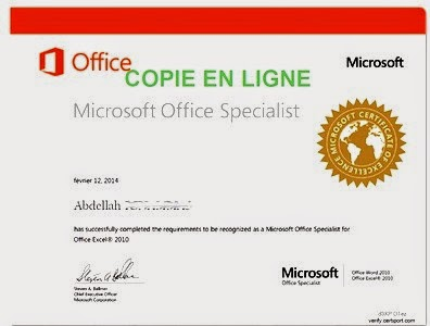 certification for microsoft office