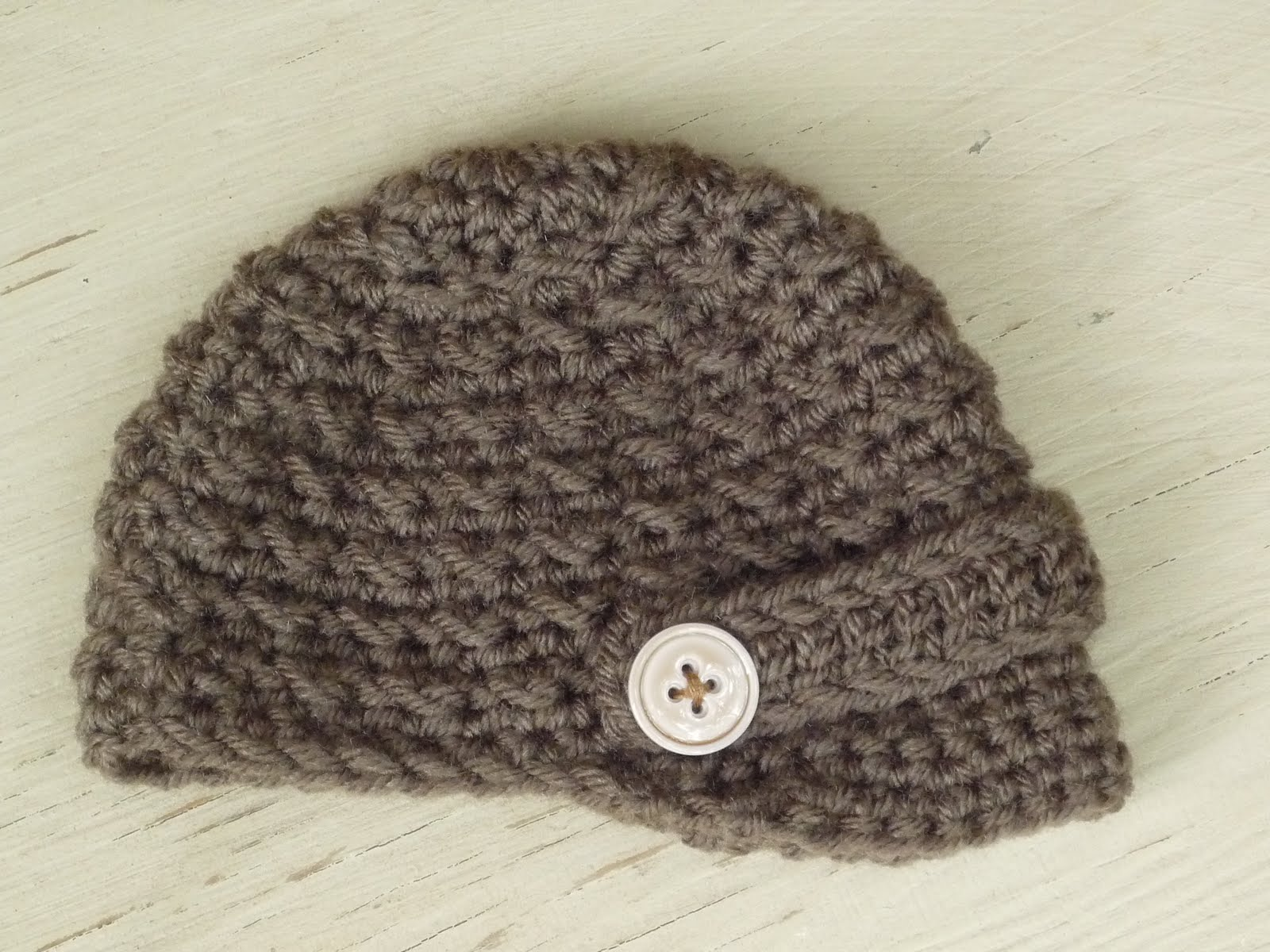 Free Crochet Pattern For Infant Newsboy Hat : NEWSBOY HAT CROCHET PATTERN ? Easy Crochet Patterns