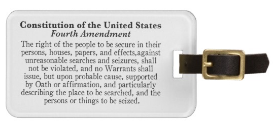 4th Amendment Luggage Tag
