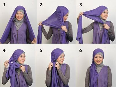 cara memakai jilbab pashmina terbaru