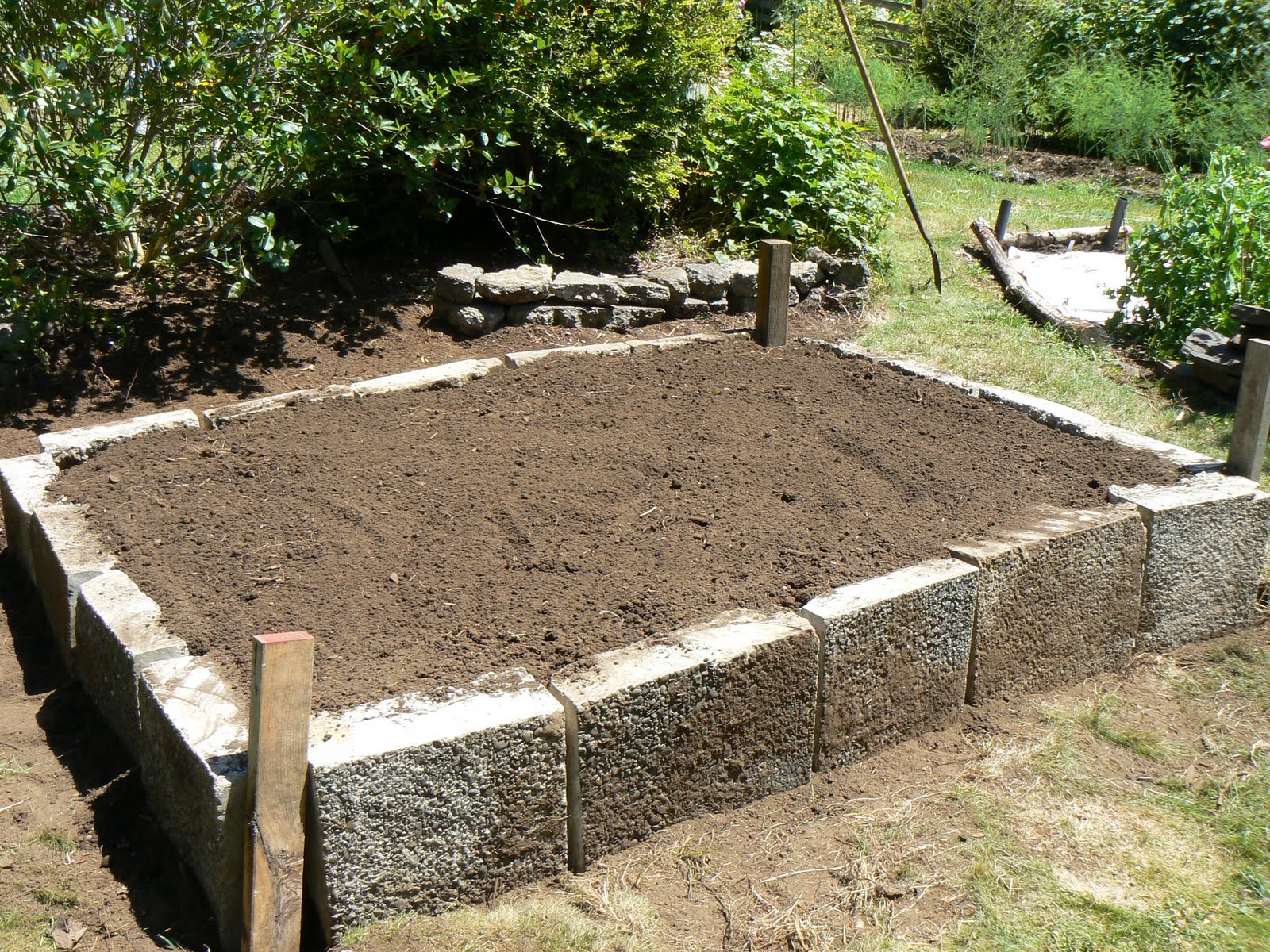 The Trinidad Garden: Building a new garden bed and cold frame, with ...