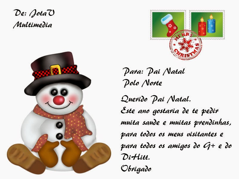 Postal Natal do JotaV