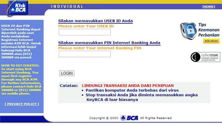 Setelah sebelumnya saya membahas tentang Pengertian Internet Banking Cara Daftar Internet Banking BCA (Gambar + Video)