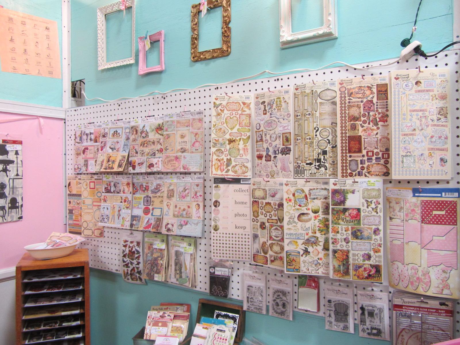 Scrapbook paper display - Phoenix Scrapbook Store At The Brass Armadillo