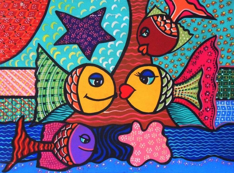 Cuadros pinturas oleos cuadros modernos de peces for Cuadros de peces