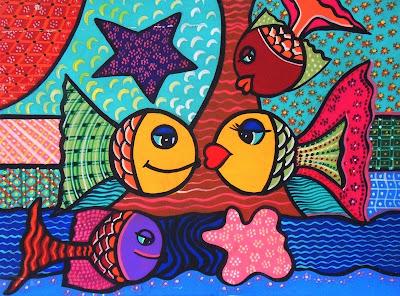 Cuadros modernos cuadros modernos de peces - Pinturas habitaciones infantiles ...