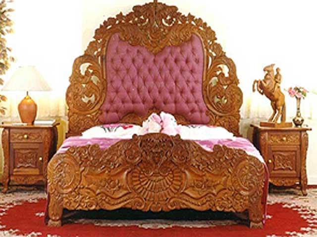 Indian wooden bed designs for Bed design images in india