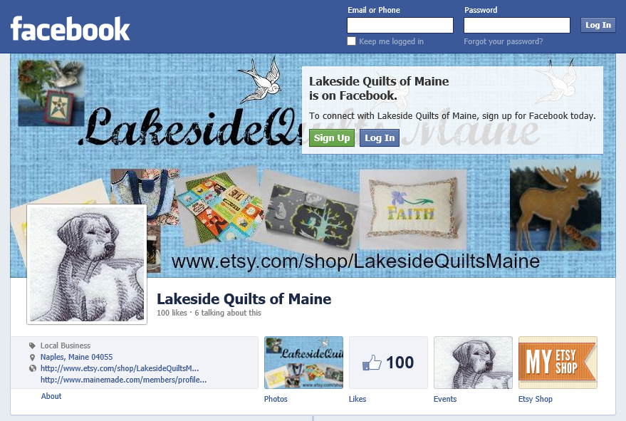 https://www.facebook.com/Lakesidequilts