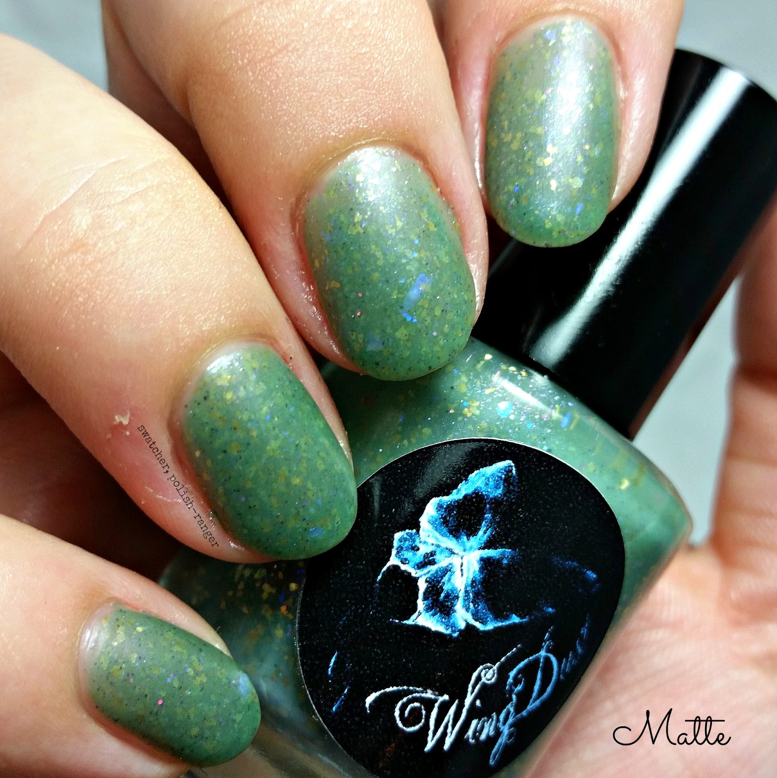 WingDust Collections Olive Me <3s Olive You matte swatch | swatcher, polish-ranger