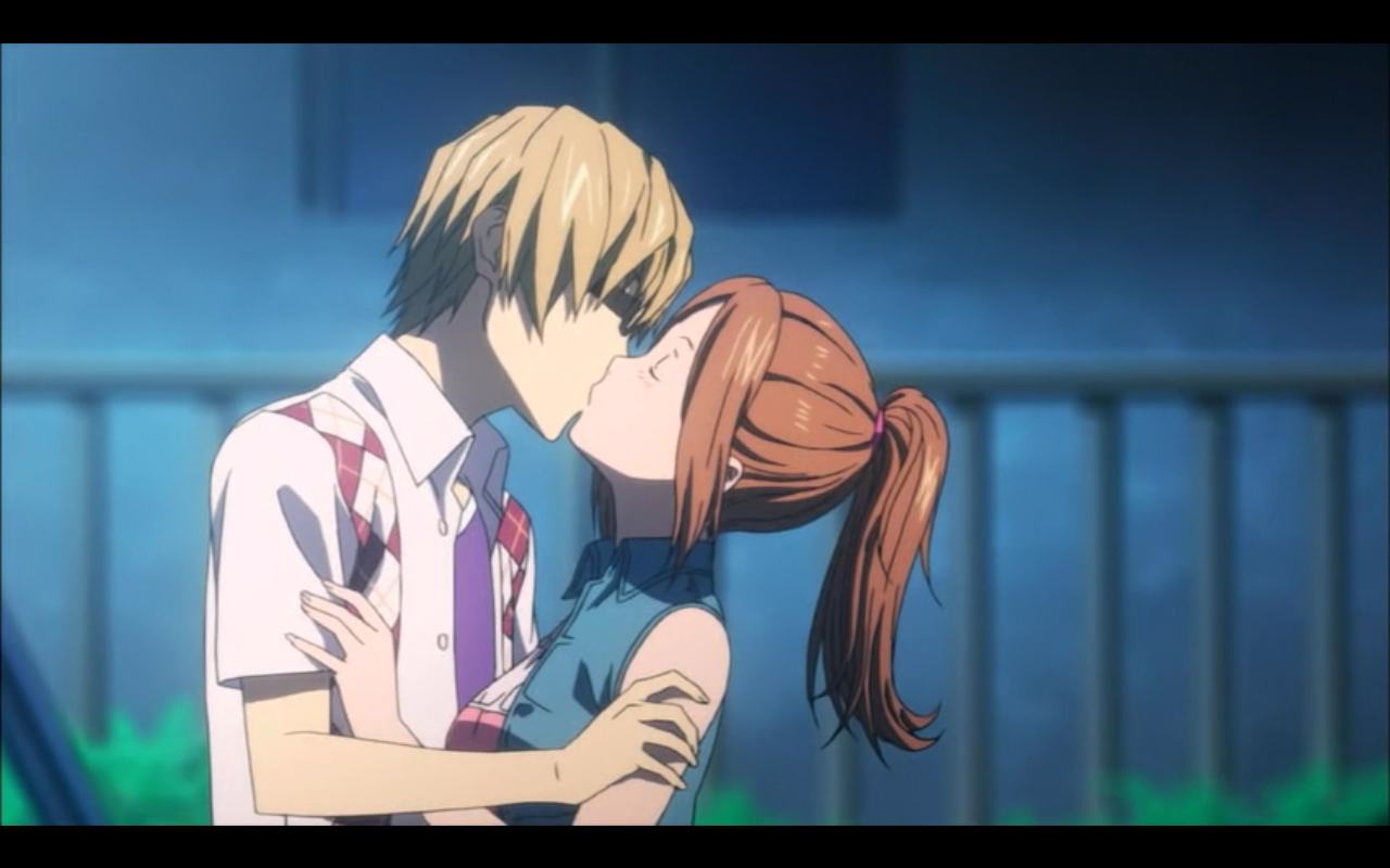 Anime love scenes kiss