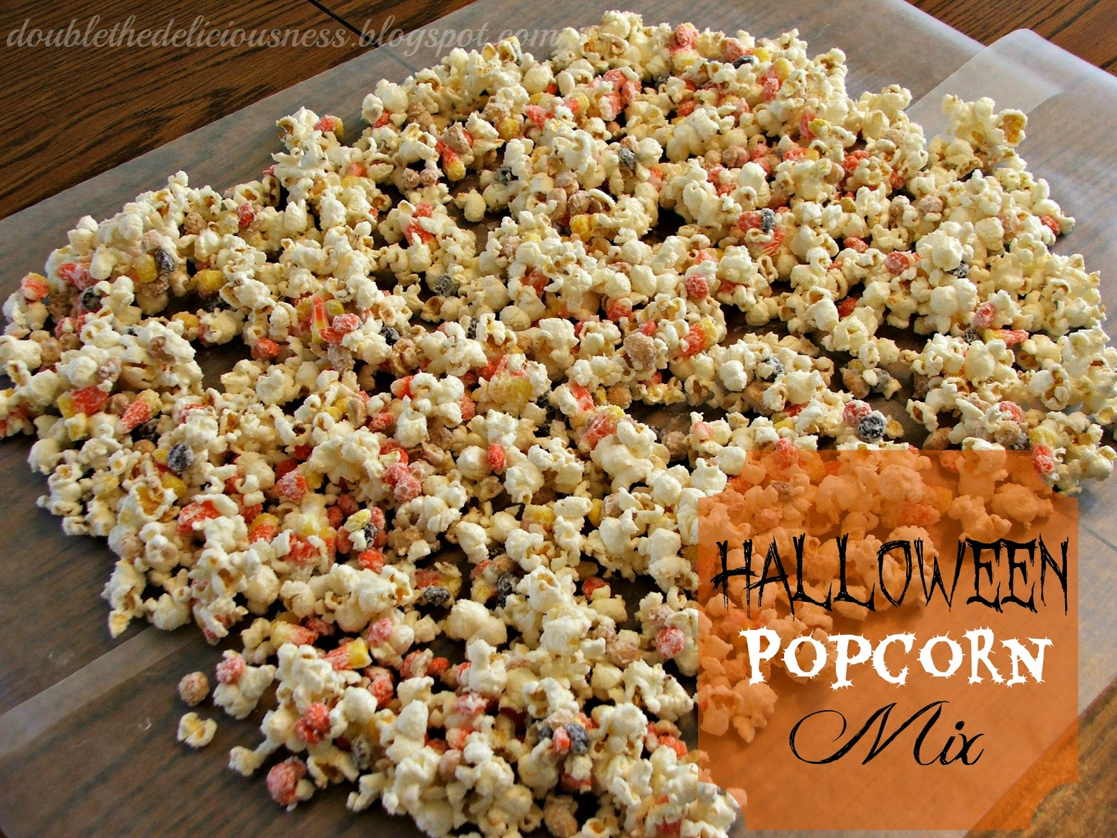 Candy Coated Party Popcorn Mixed With Favorite Halloween ...