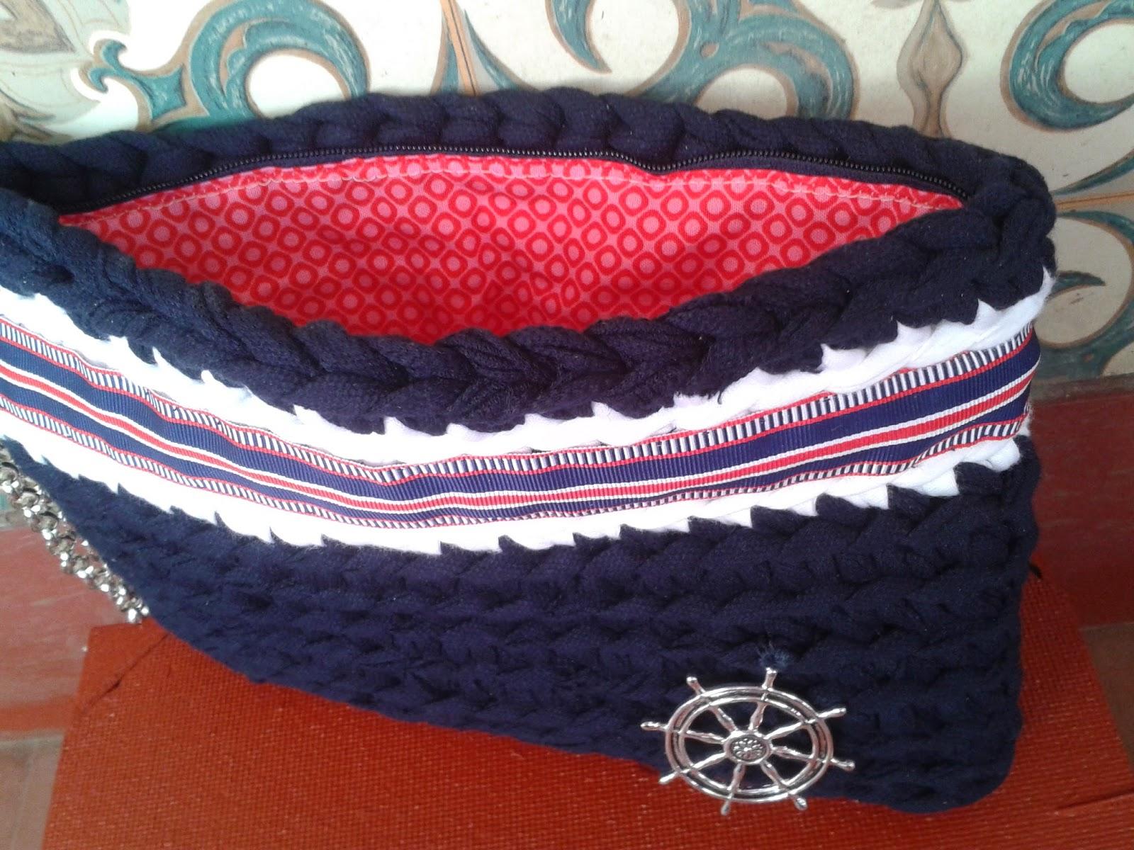 Carmenccincrochet bolsos de trapillo y crochet for Bolso crochet trapillo