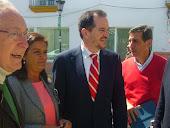 La alcaldesa con Raynaud e Iturgaiz