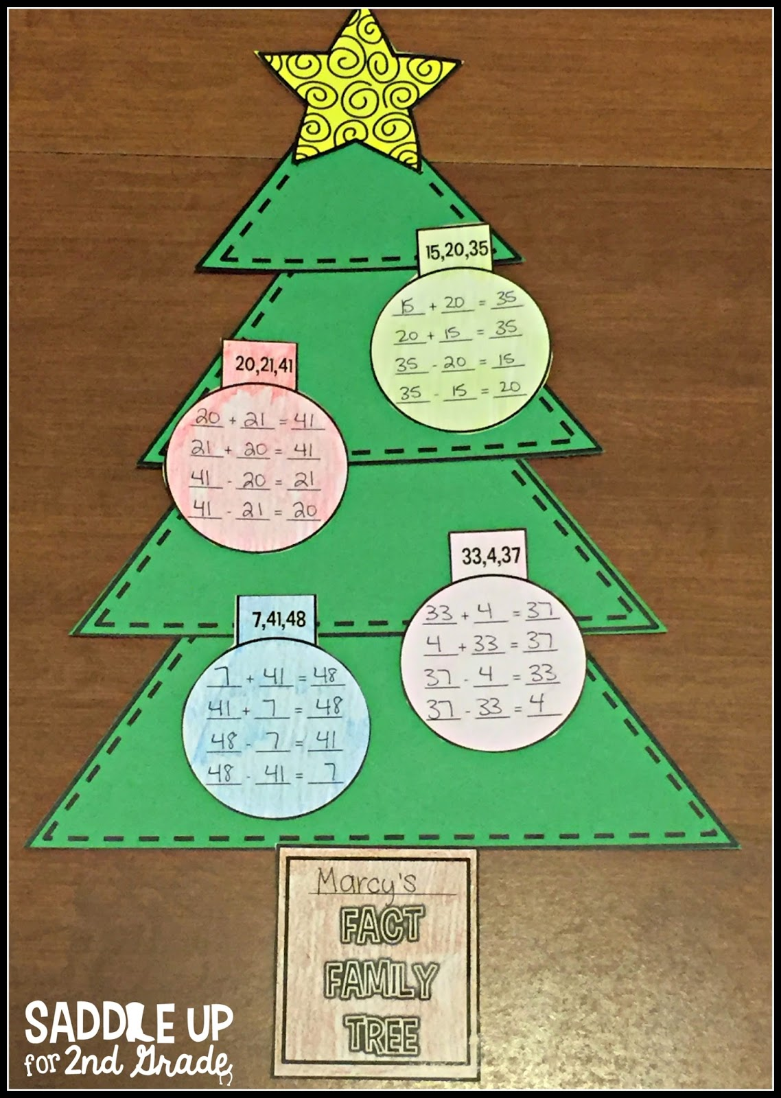 Fact Family Christmas Tree by Saddle Up For 2nd Grade