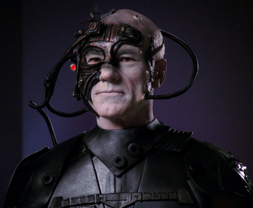 The Borg: From the Star Trek television series. The Borg represented a hybrid of humans and machines.