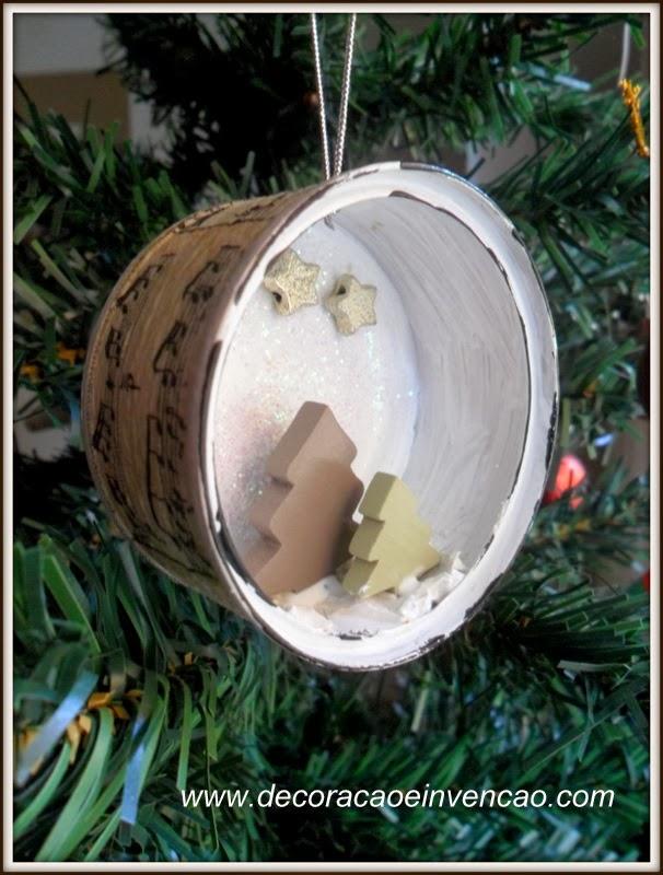 enfeite de natal com latinhas