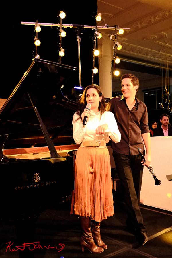 MC Yarmila Alfonzetti with Andreas Ottensamer, Yellow Lounge, Sydney