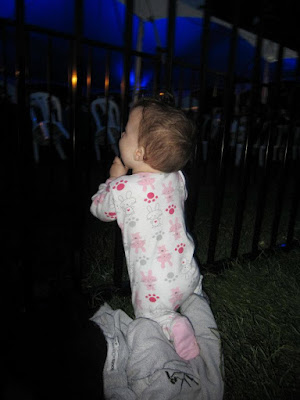 baby at a concert