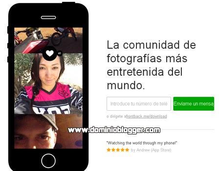 Diviertete y comparte tus fotos en la red social FrontBack