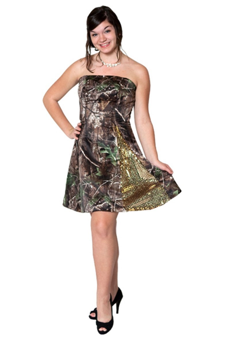 wedding dresses cold climates: Short Wedding Dresses With Camo