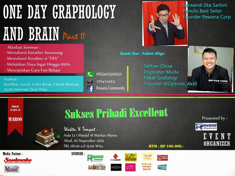 Seminar Nasional One Day Grafologi And Brain Part II