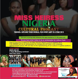 click to Register for Miss Heiress Nigeria