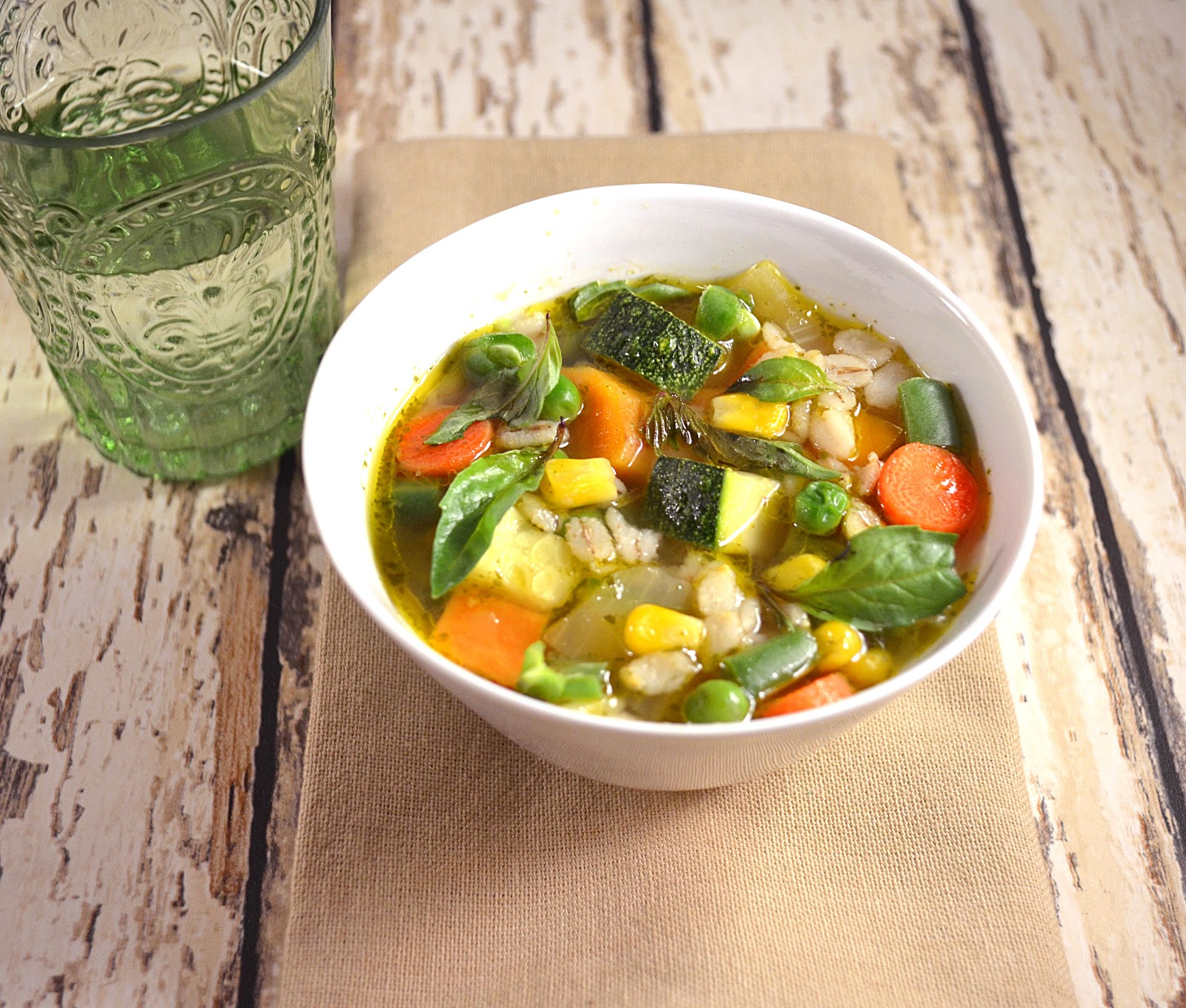 Vegetable Soup with Barley and Basil ~ A Simple Soup When You Need it ...
