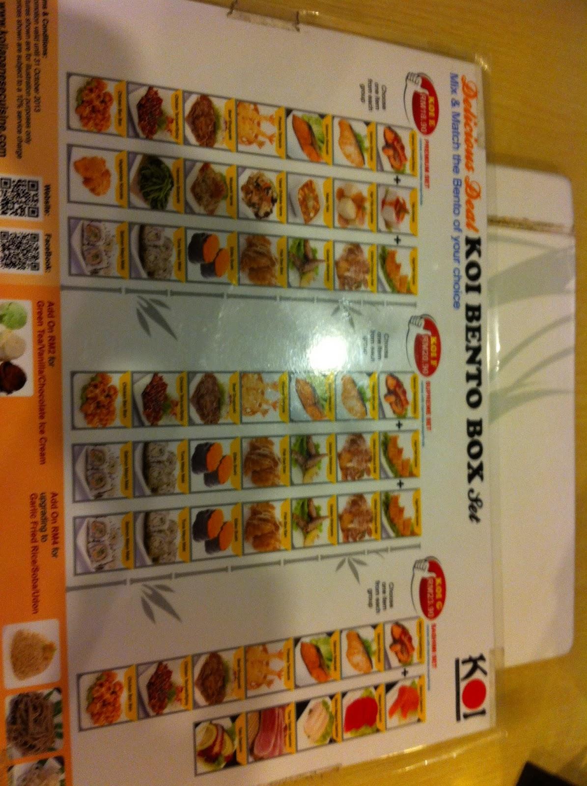 Our journey penang gurney plaza mall koi japanese for Japanese koi food