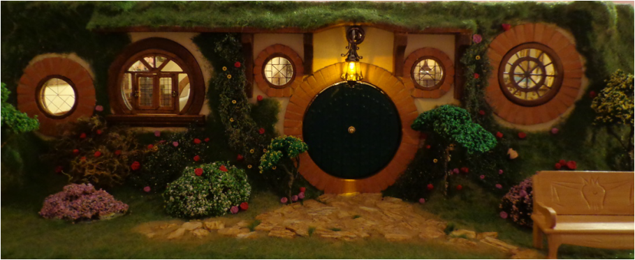 My Hobbit Hole Bag End at Night