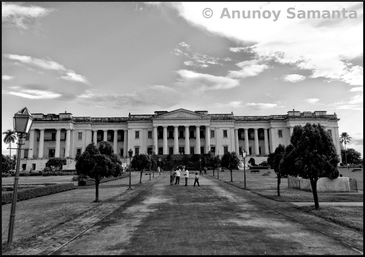 Hazarduari Palace of Murshidabad in blackand white