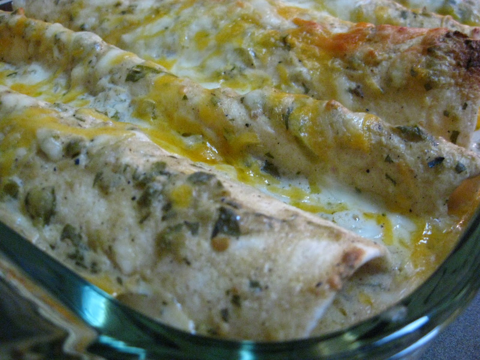 Taste of Home Cooking: Salsa Verde Chicken Enchiladas