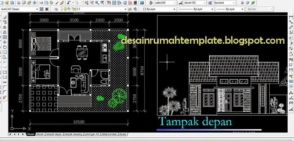 Template Desain Rumah Tipe  Desain Rumah Template