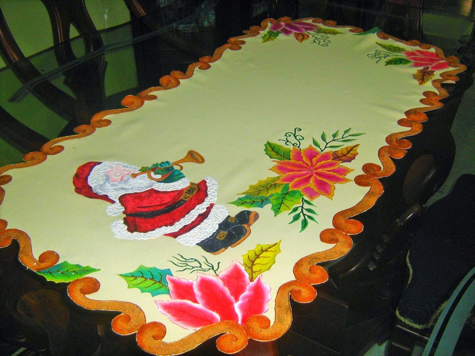 Amararte manualidades pintura en tela carpetas cuadros - Pintura en tela motivos navidenos ...