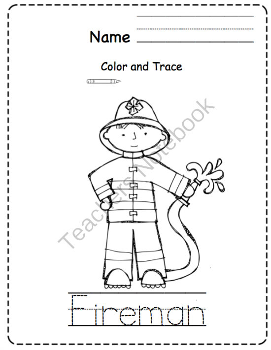 Community Helpers Coloring Pages For Kindergarten : Community helper s printable alphabet cards preschool