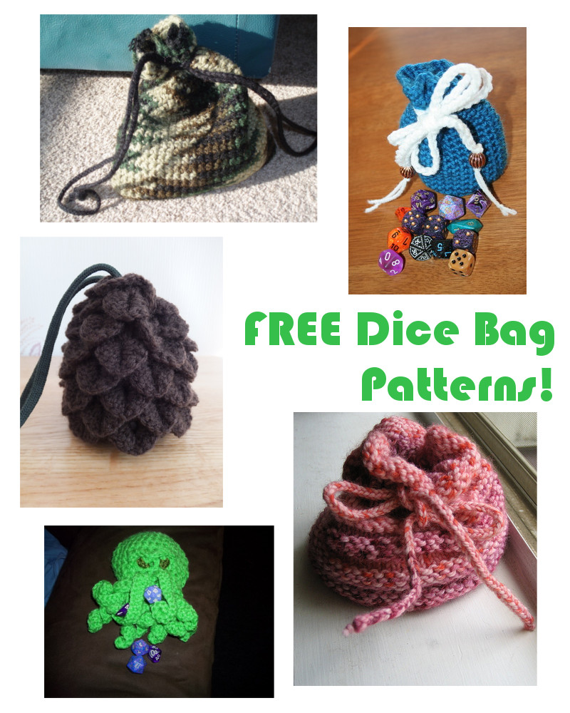 This is an image of Fabulous Dice Bag Printable Pattern