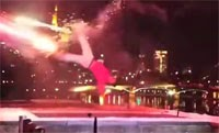 This Spectacular Stunt With Fireworks Looks Awesome