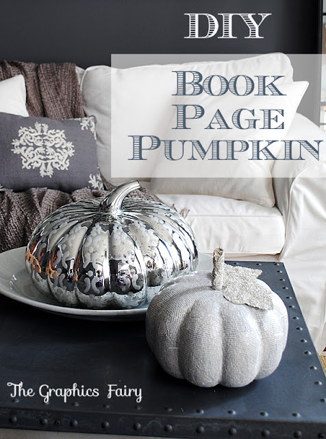 Book lovers will love this book page pumpkin tutorial from Graphics Fairy. It's a gorgeous, classy fall craft that you can use year after year