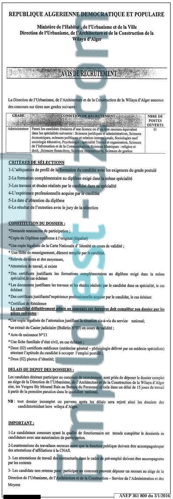 Hommes cherche emploi en algerie