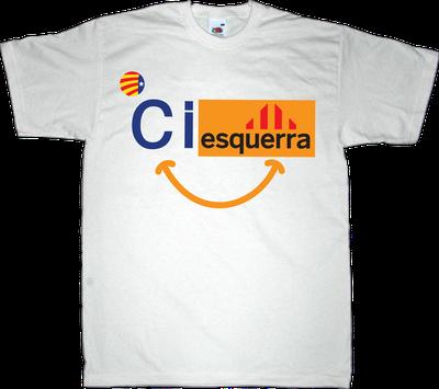 ciu convergència i unió ERC catalonia independence useless Politics t-shirt ephemeral-t-shirts freedom