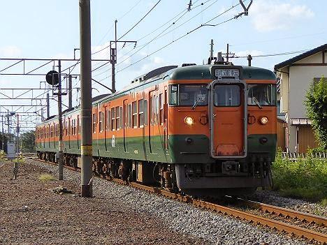 吾妻線 試運転 115系(八ッ場ダム建設工事に伴う運行)