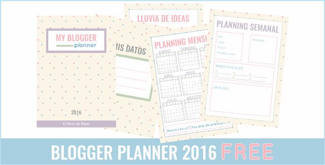 Blogger Planner 2016 GRATIS para suscriptores