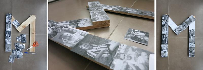 DEF Deco - Decorar en familia: Diy letra de madera con fotos2