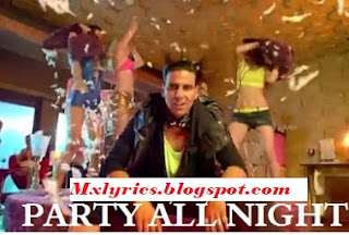 PARTY All  night Song Lyrics From Movie Boss,HONEY SINGH