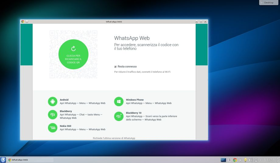 WhatsApp Web in KDE